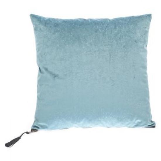 Dekorační polštář světle modrý sametový