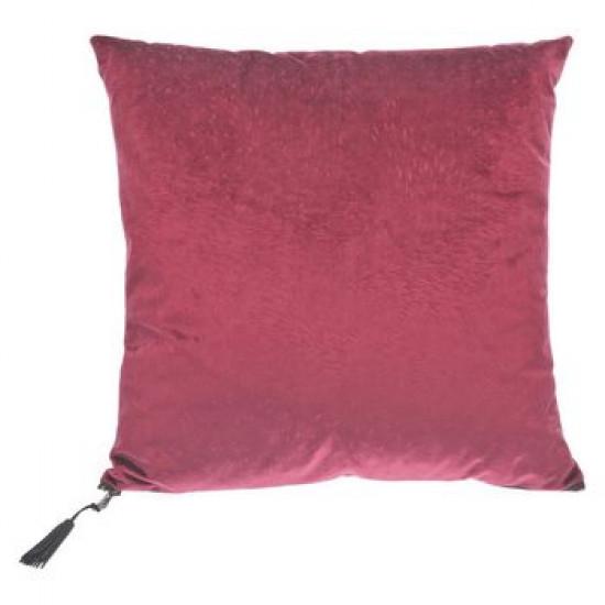 Dekorační polštář červený sametový