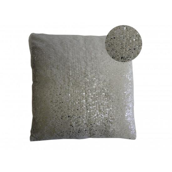 Dekorační polštář šedo-stříbrný