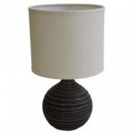 Stolní polyresinová lampa tmavá, koule