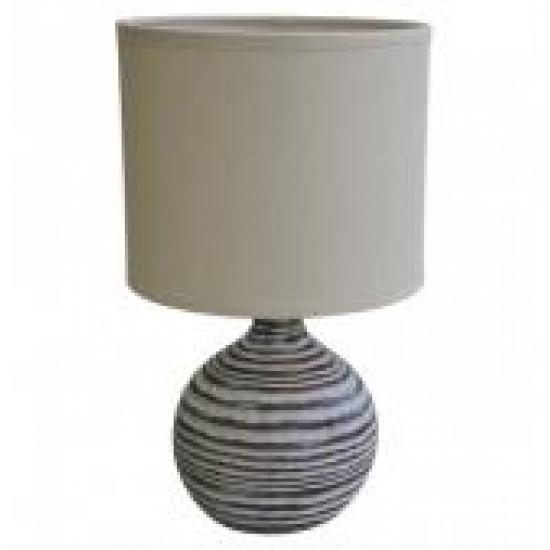 Stolní polyresinová lampa světlá, koule