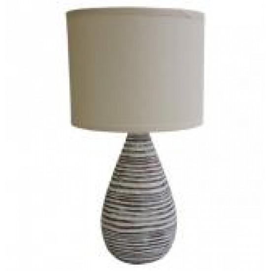 Stolní polyresinová lampa světlá