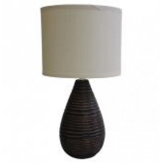 Stolní polyresinová lampa tmavá