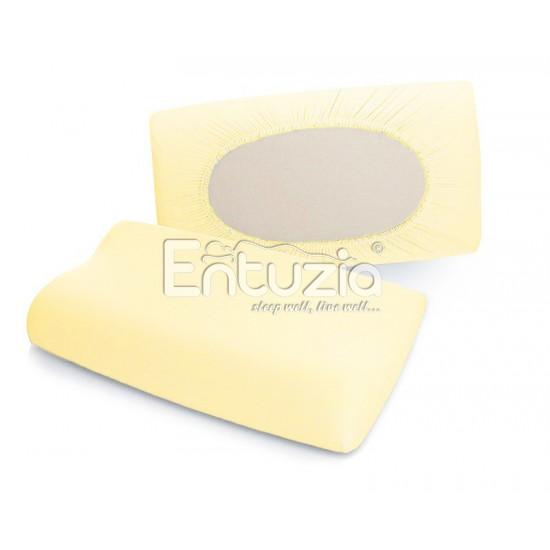 Povlak na anatomický polštář DELUXE světle žlutý