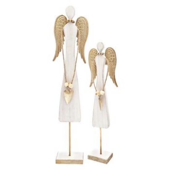 Anděl dřevěný hranatý