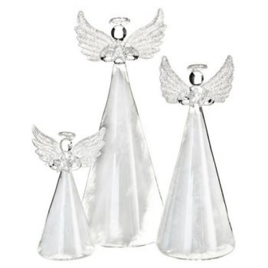Anděl skleněný s peřím